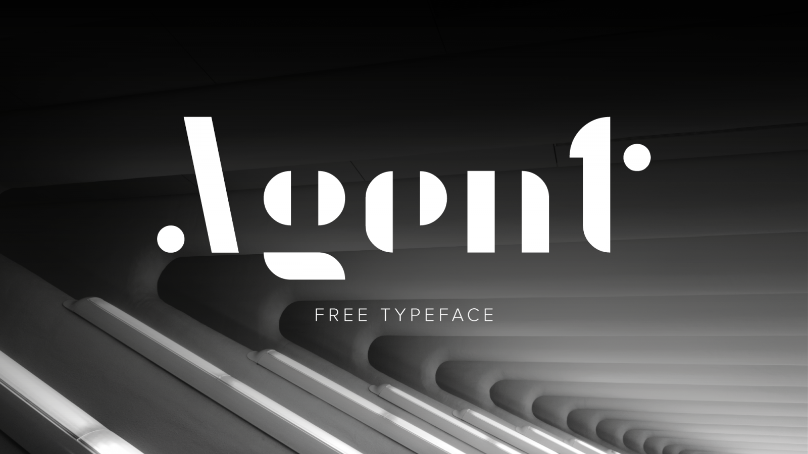 Typography: Agent Free Font