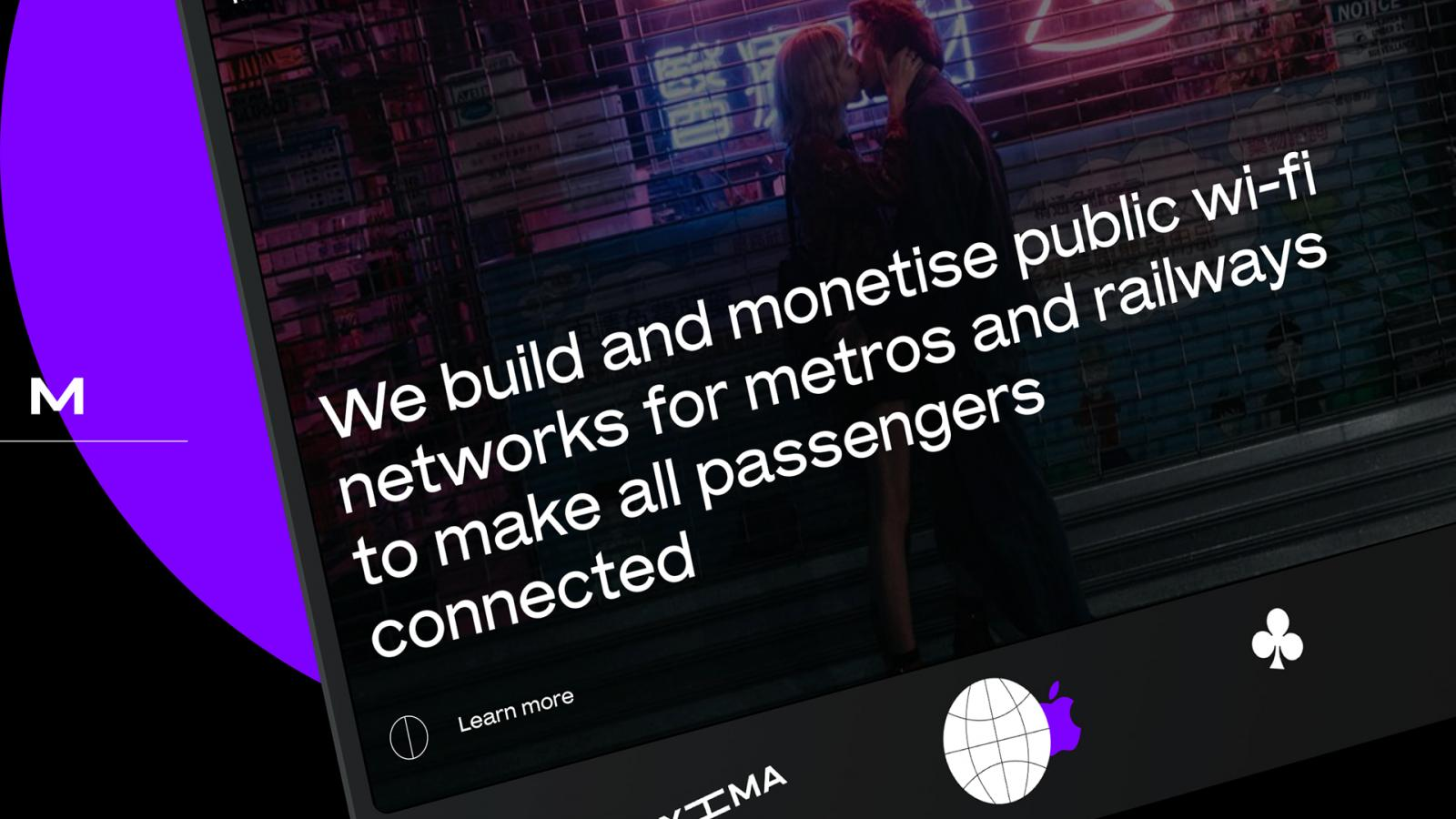 Web Design for Maxima.tech, a Public Wi-Fi for metros and railways