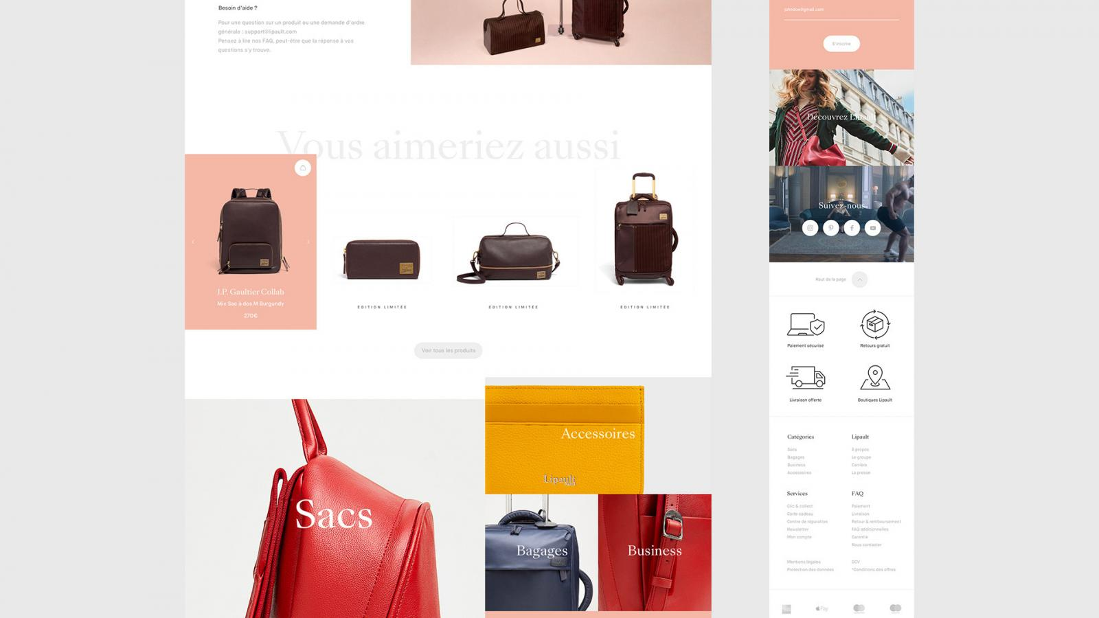 Lipault™ E-Commerce Responsive Web Design
