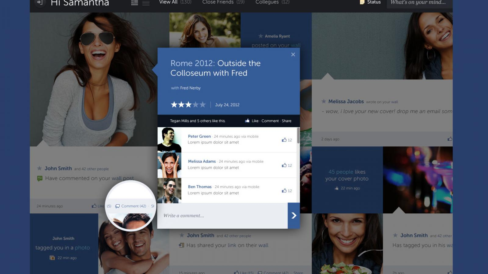 Facebook Concept -  A Systematic Design Approach