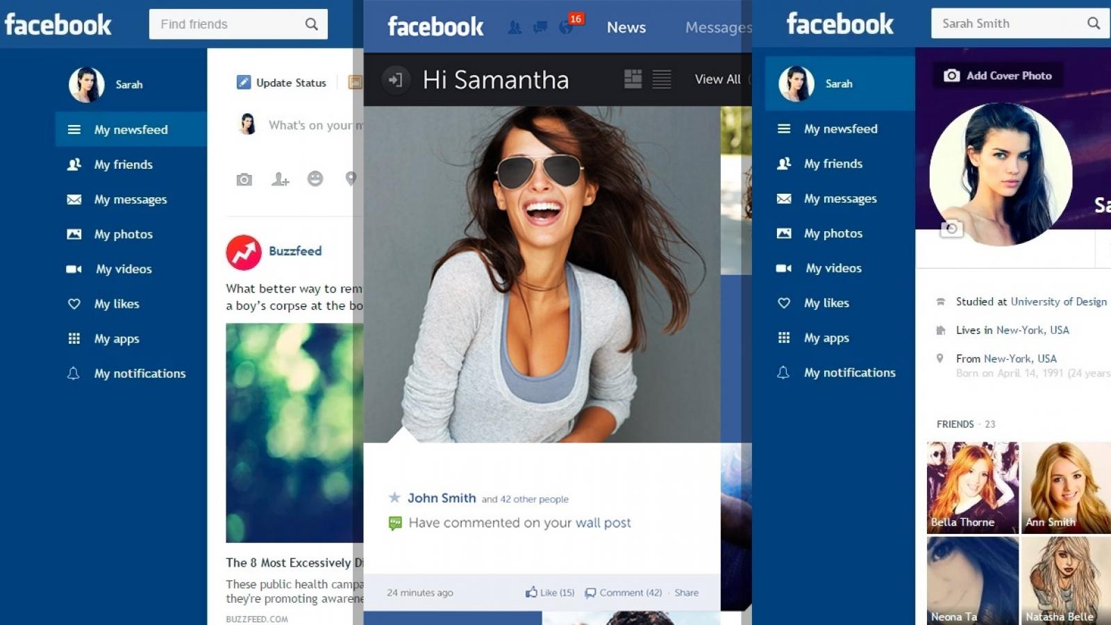 People love to redesign Facebook. And you, Like or Dislike?