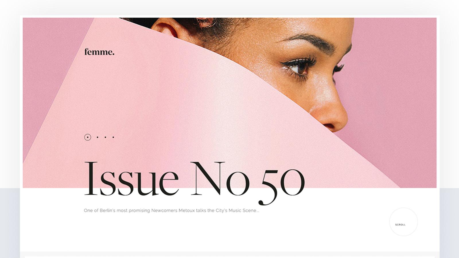 Web Design: Femme Magazine Desktop and Mobile