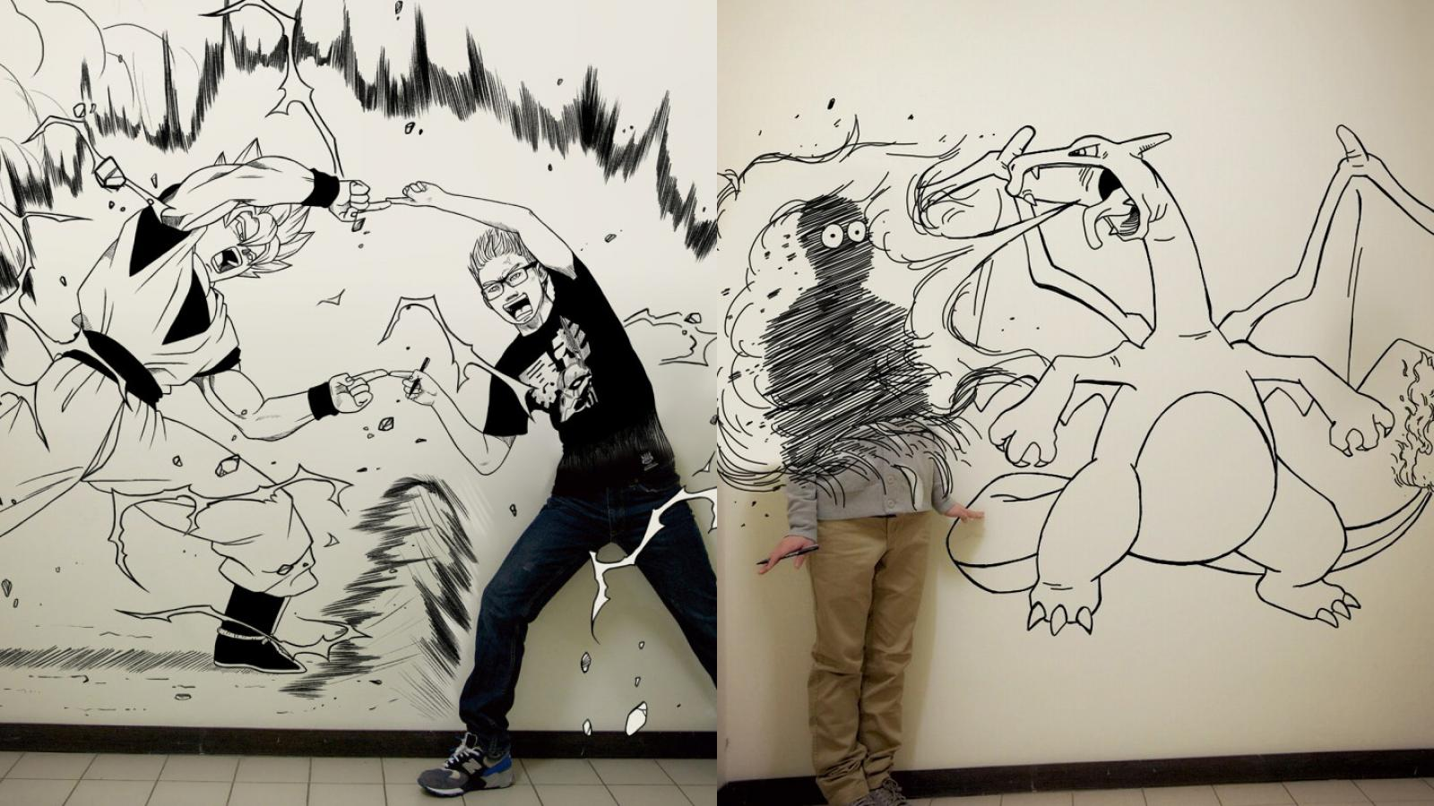 Creative Self-Portrait Drawings by Gaikuo