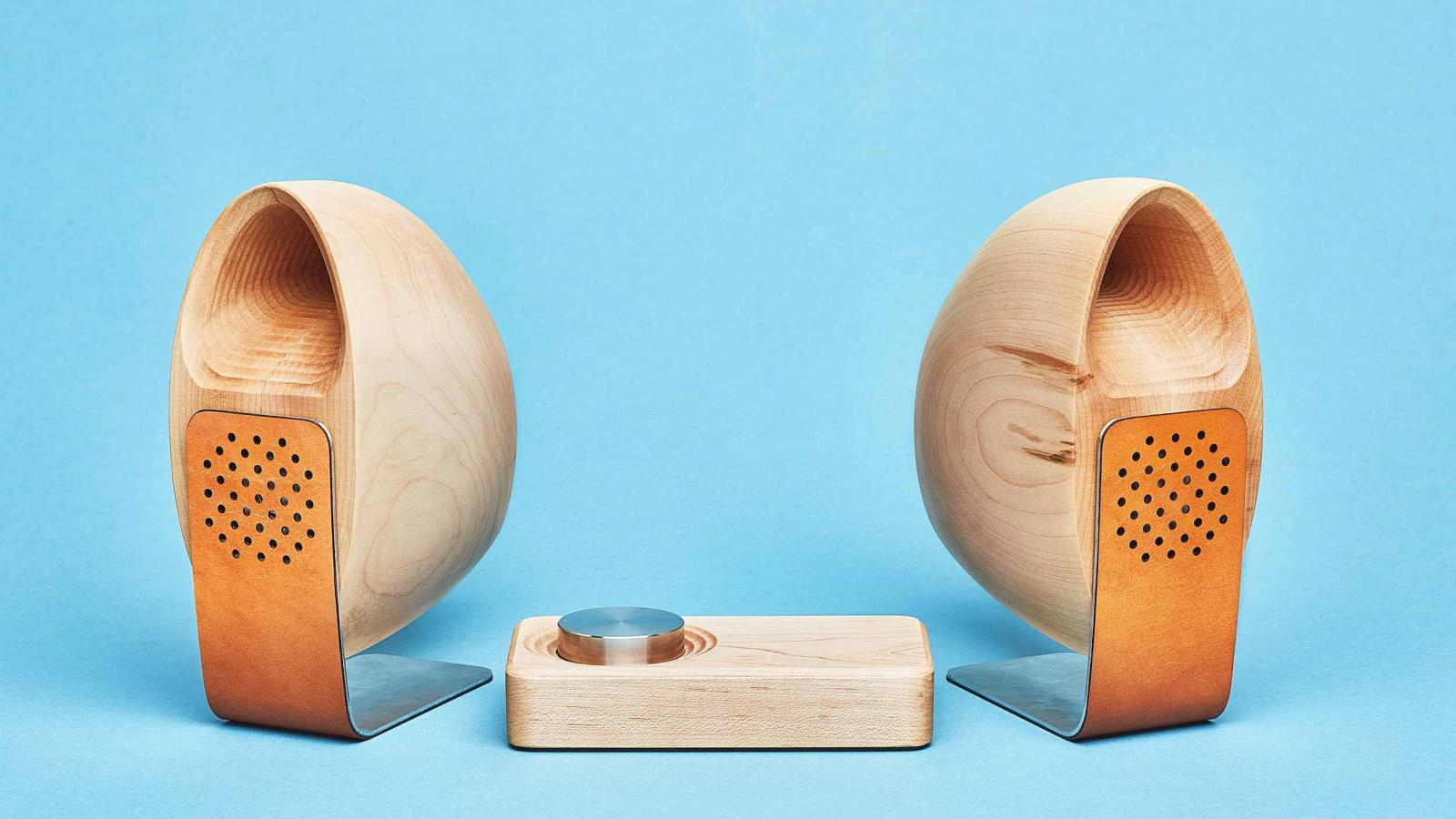 Grovemade's Maple Speakers