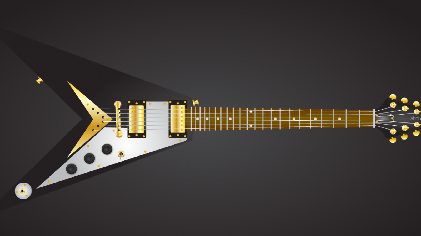 Easy Flying V Guitar in Illustrator