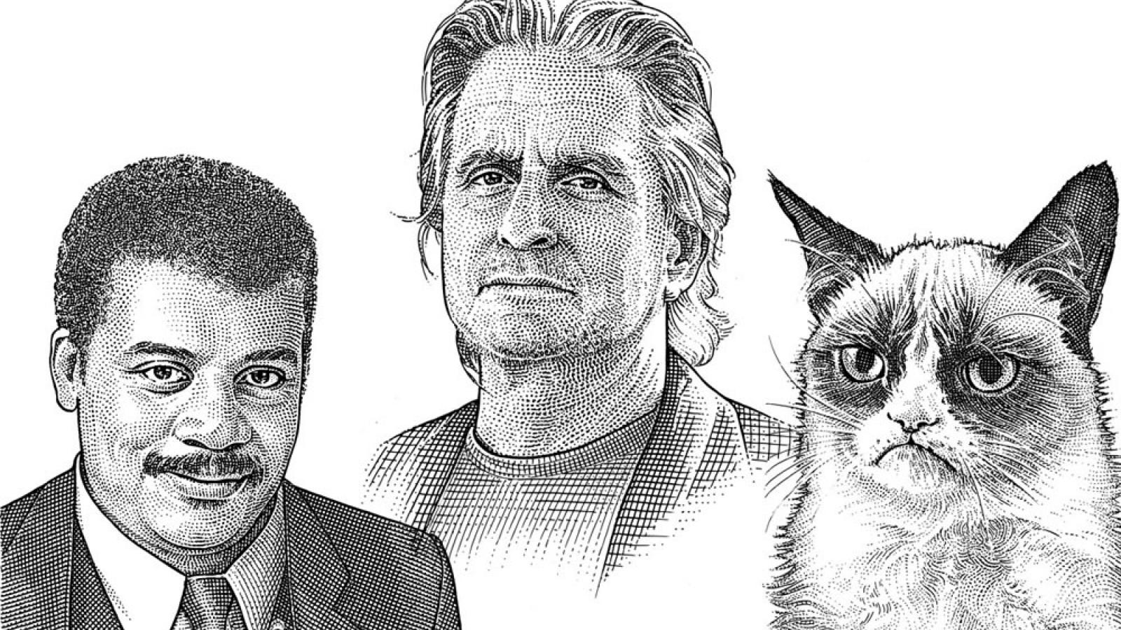 Splendid Celebrity Hedcuts by Noli Novak