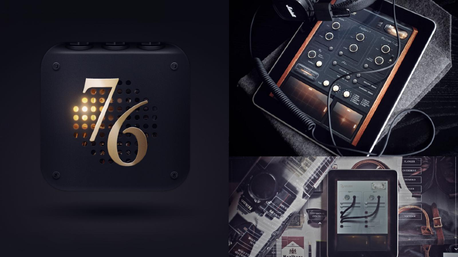 76 Synthesizer App on iPad by Jonas Eriksson