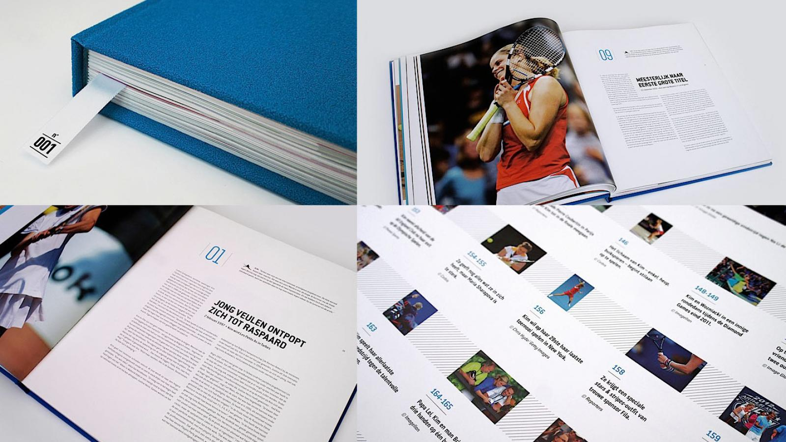 Editorial Design Inspiration: Kim Clijsters Book