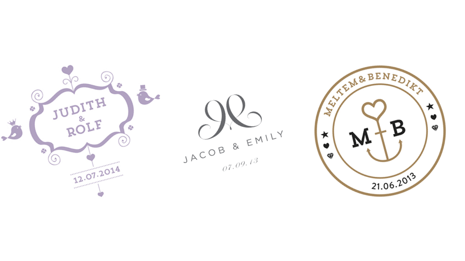 Logo Design: Wedding Logos