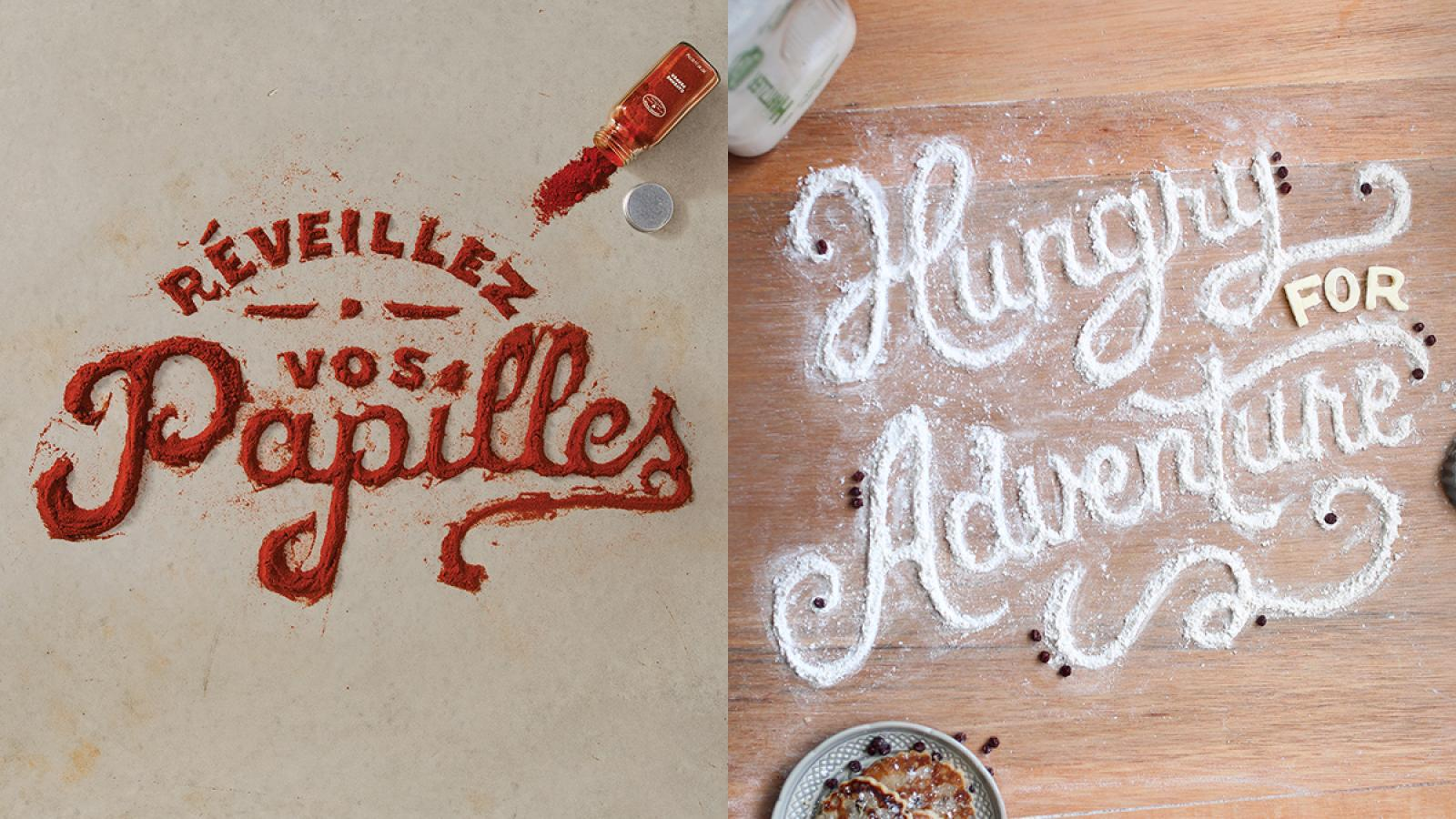 Food Typography by Marmalade Bleue