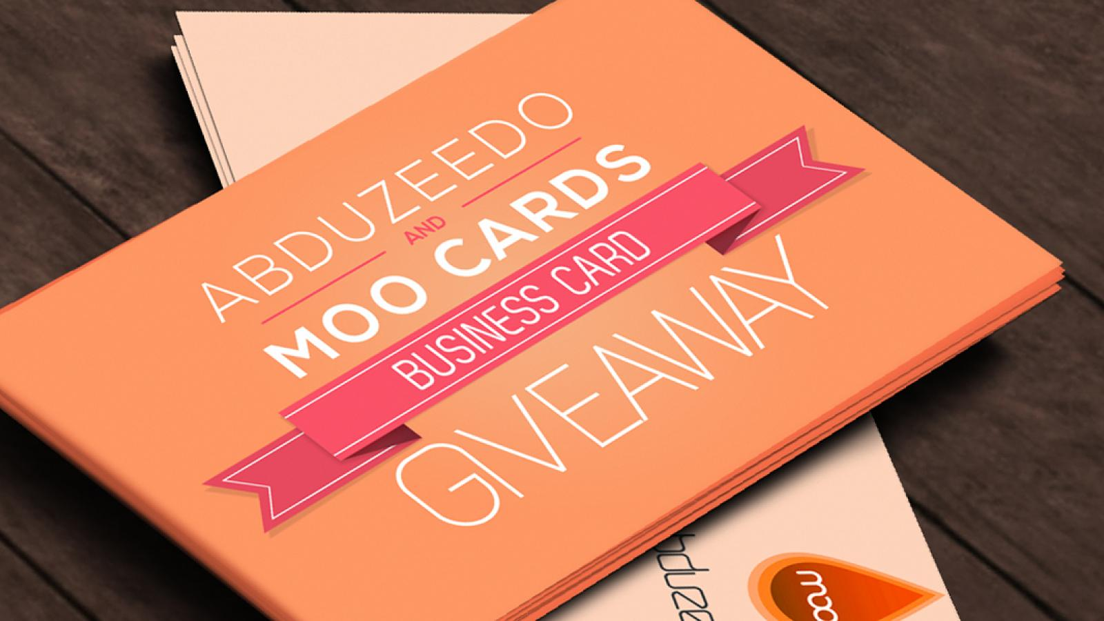Business card abduzeedo moo business cards giveaway reheart Gallery