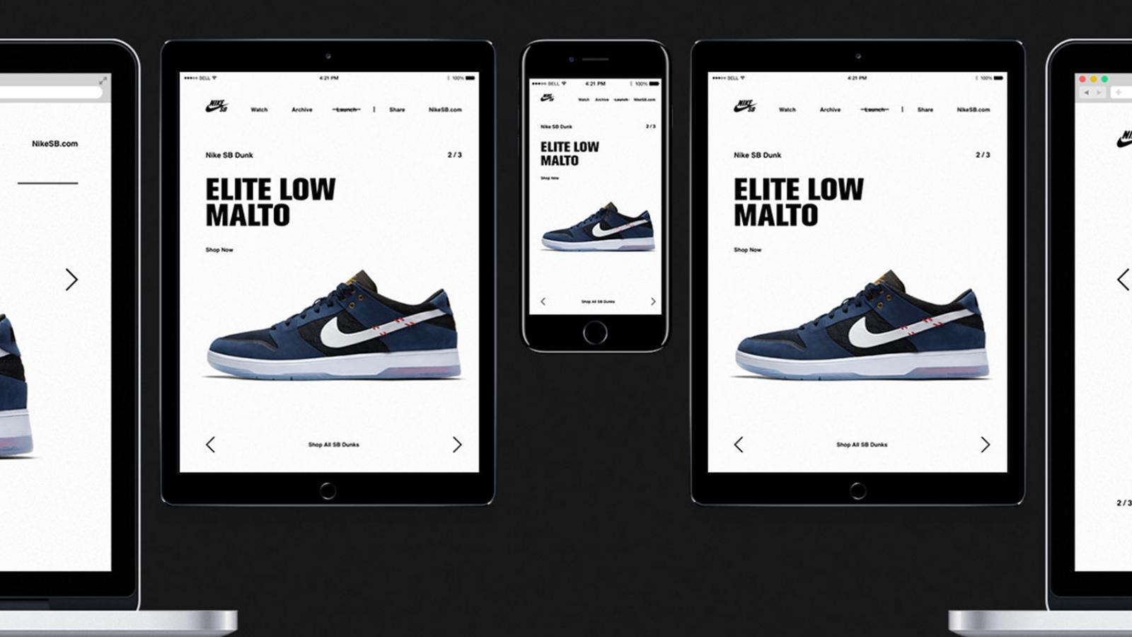 Web Design for the 15 Years of Nike SB Dunk