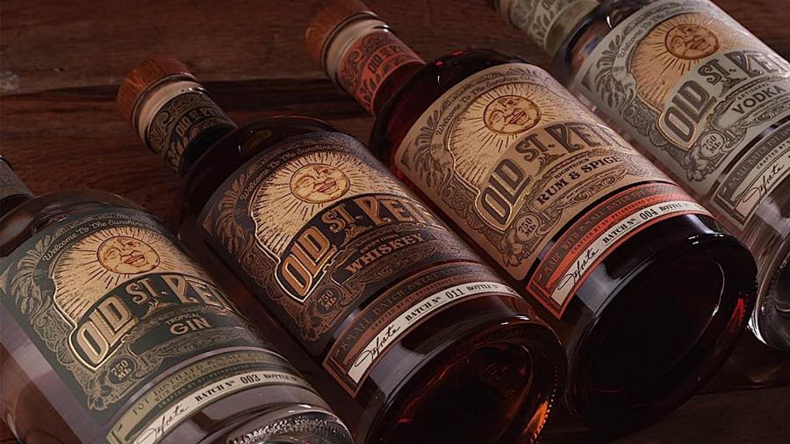 Packaging Design: Old St. Pete Craft Spirits