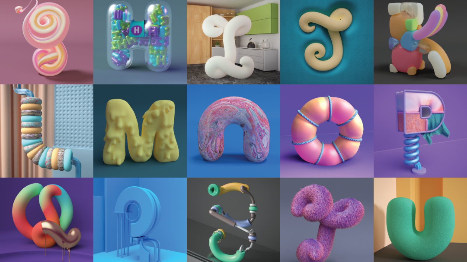 Typography: Exploring the Soft World of 3d with Smooth Alphabet
