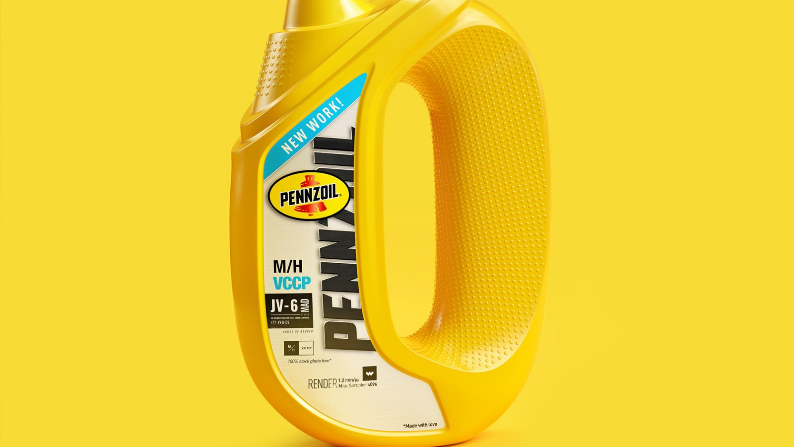 Digital Illustration and Typography for the Pennzoil by JVG ™