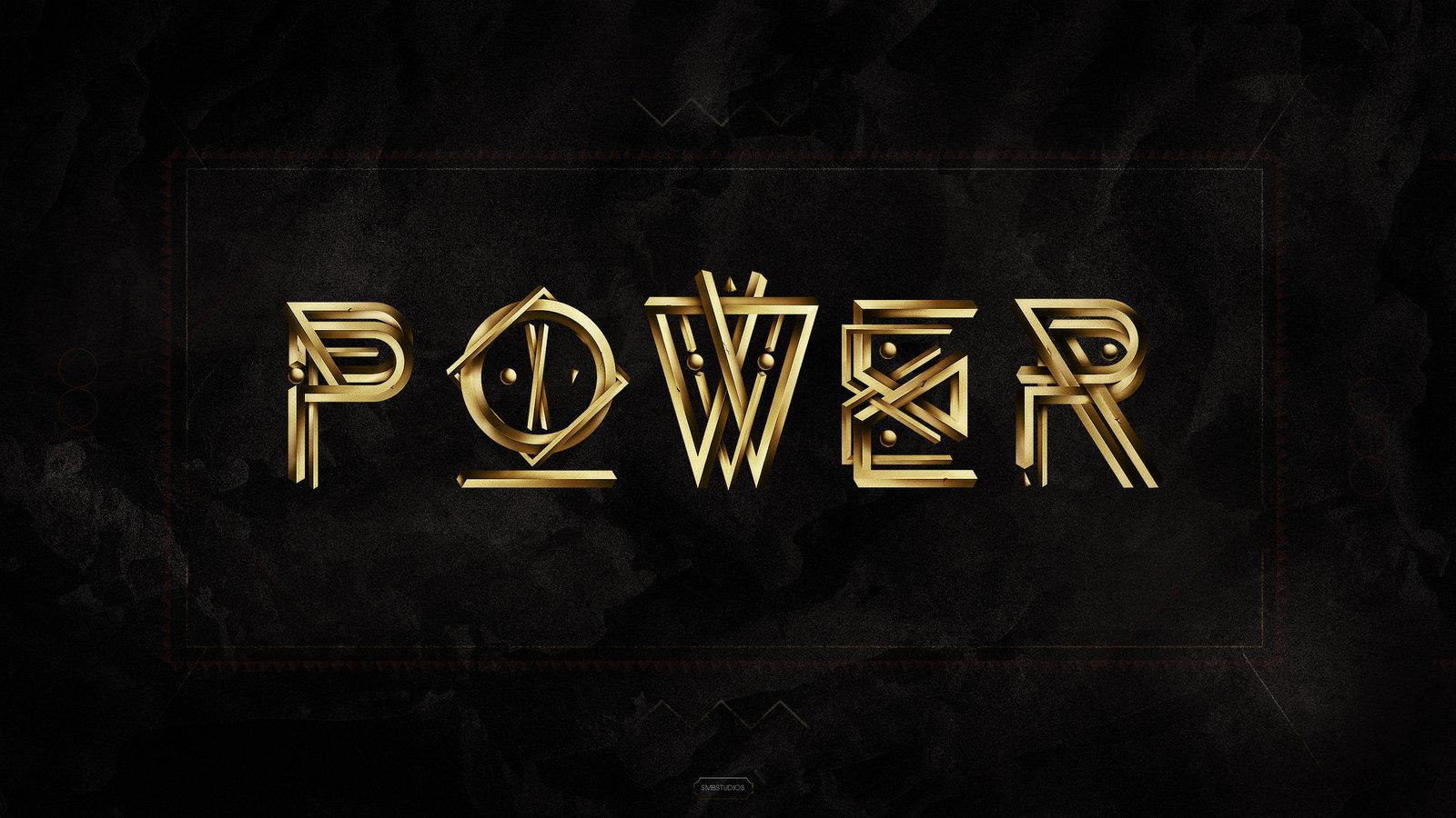 Power - Typography Illustration
