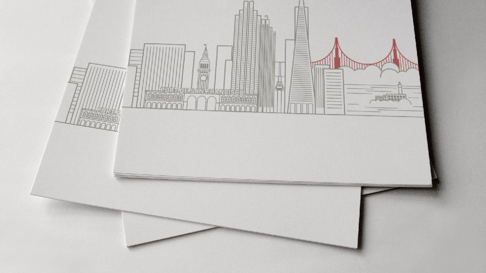 San Francisco Skyline in Illustrator