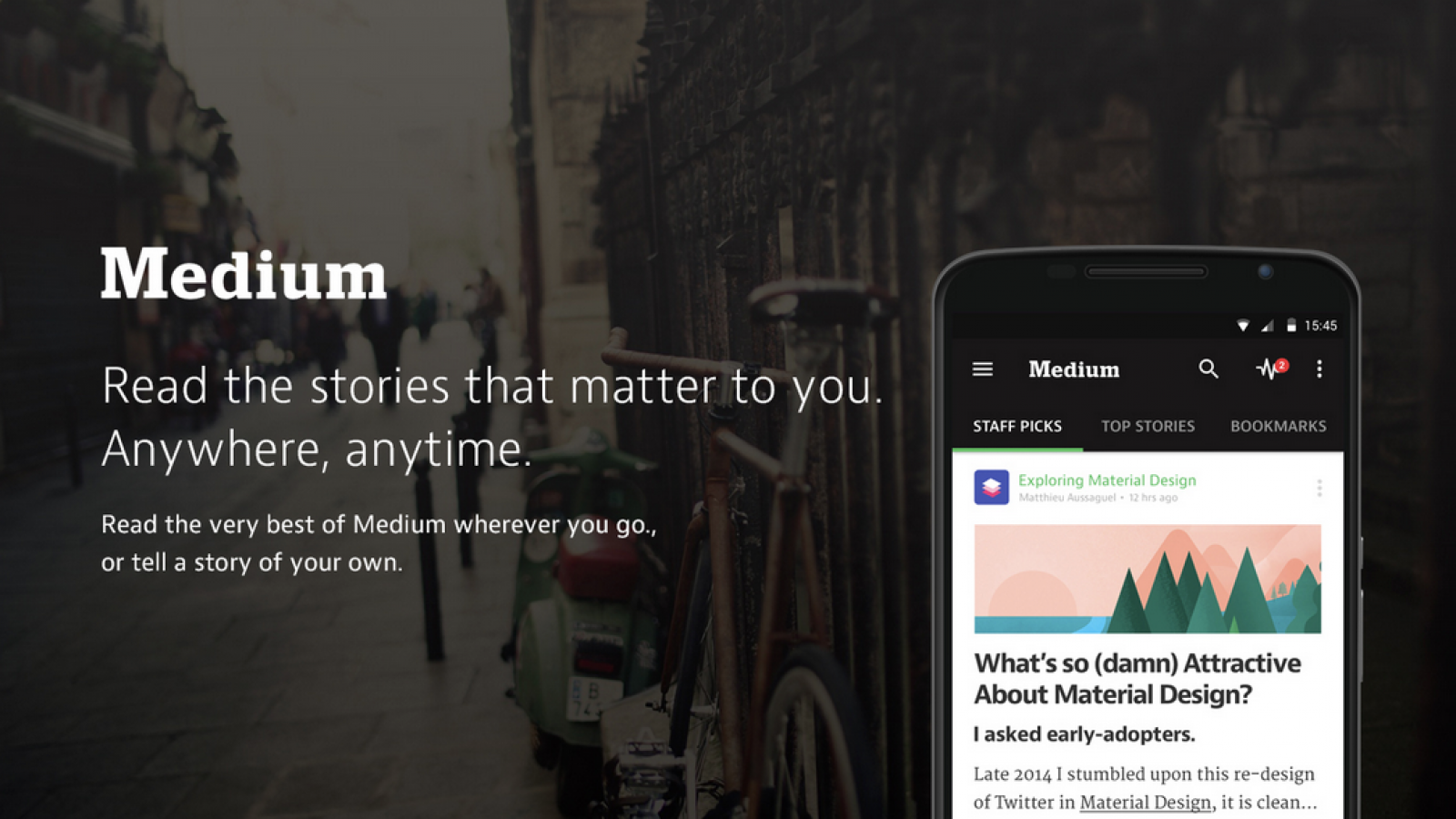 App Design: Medium for Android