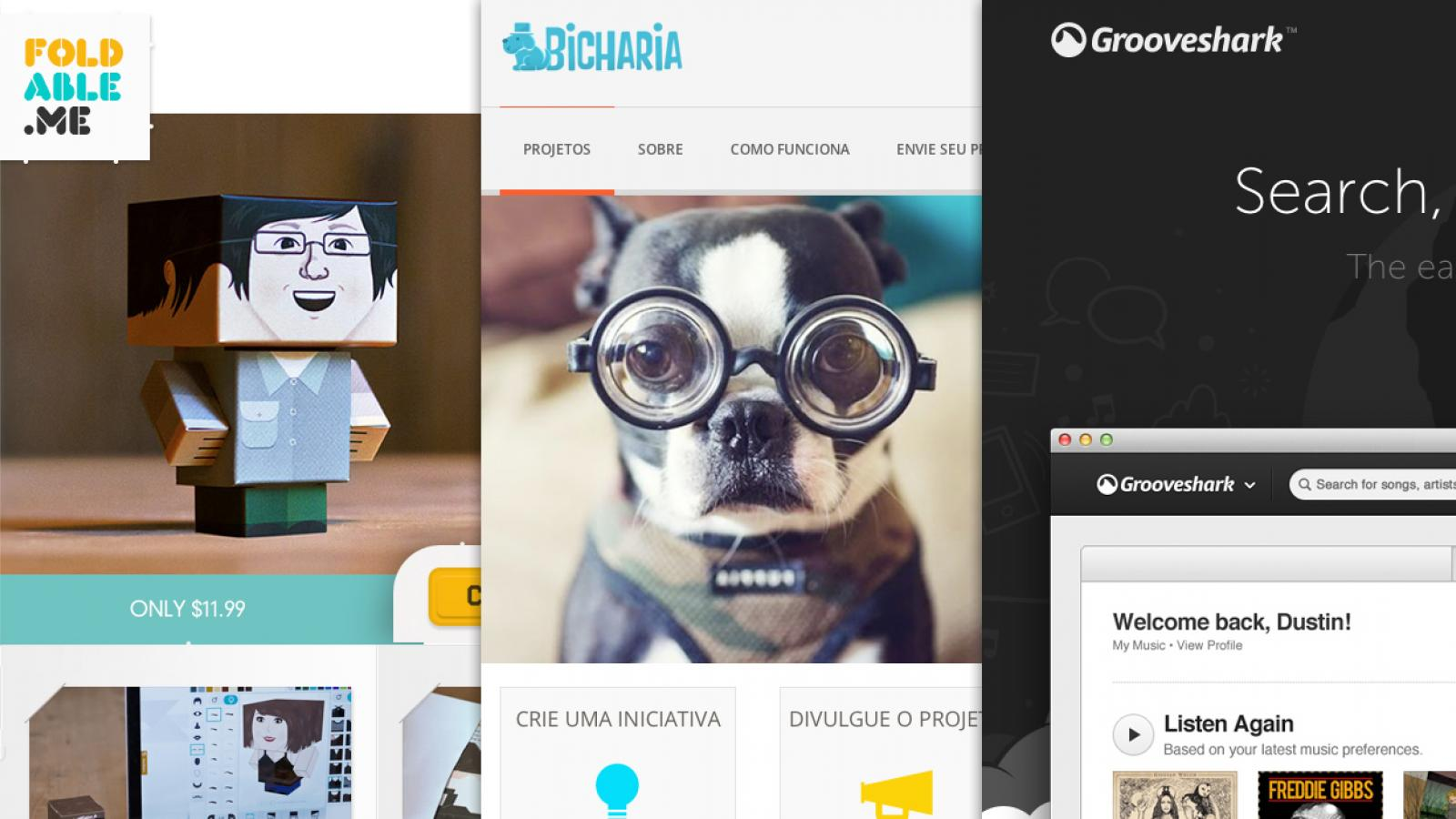 Sites of the Week: Grooveshark, Bicharia, 45royale and more