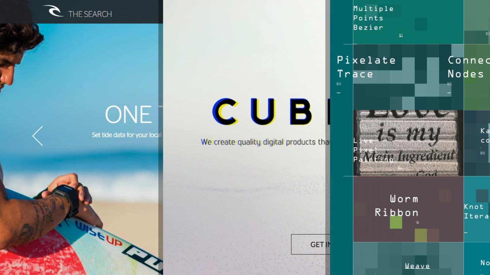Sites of the Week: Glassy Pro, Cuberto, SearchGPS and more