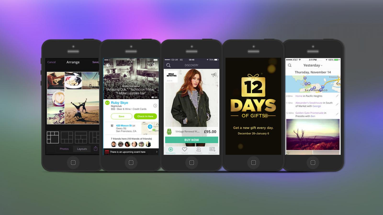Weekly Apps: Mallzee, Heyday, Foursquare and more