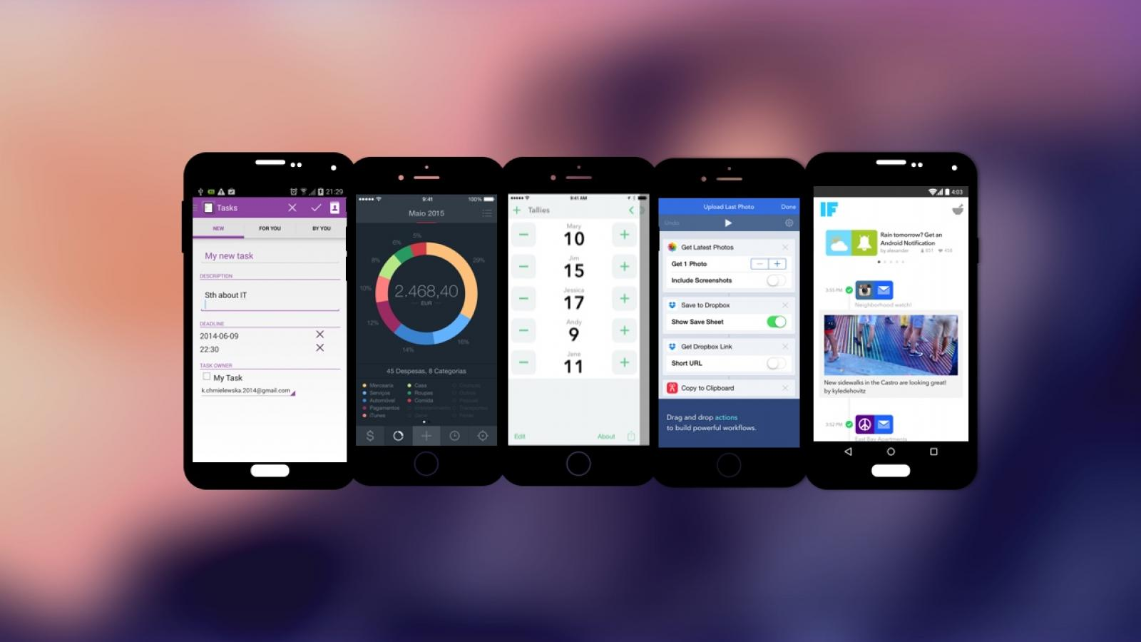Weekly Apps: Tally, IF by IFTTT, Workflow and more