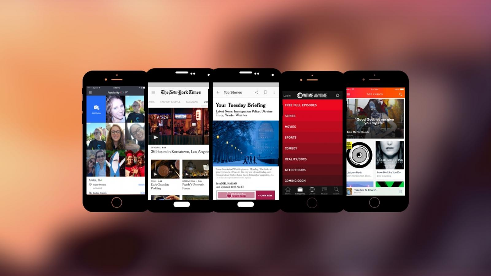 Weekly Apps: NYTimes, Showtime, Musixmatch and more