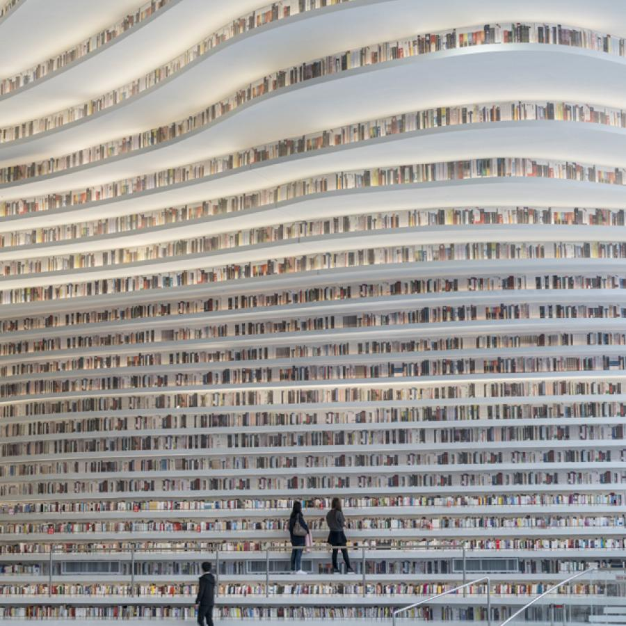 MVRDV's Tianjin Binhai Library: Visiting the 'Most beautiful library of China'