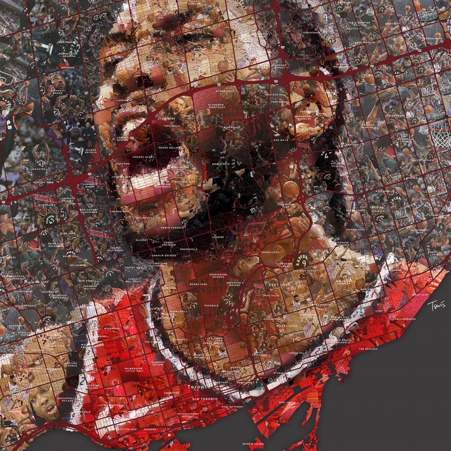NBA Finals'19: Mosaic Portraits for Bleacher Report - Sport Illustrations