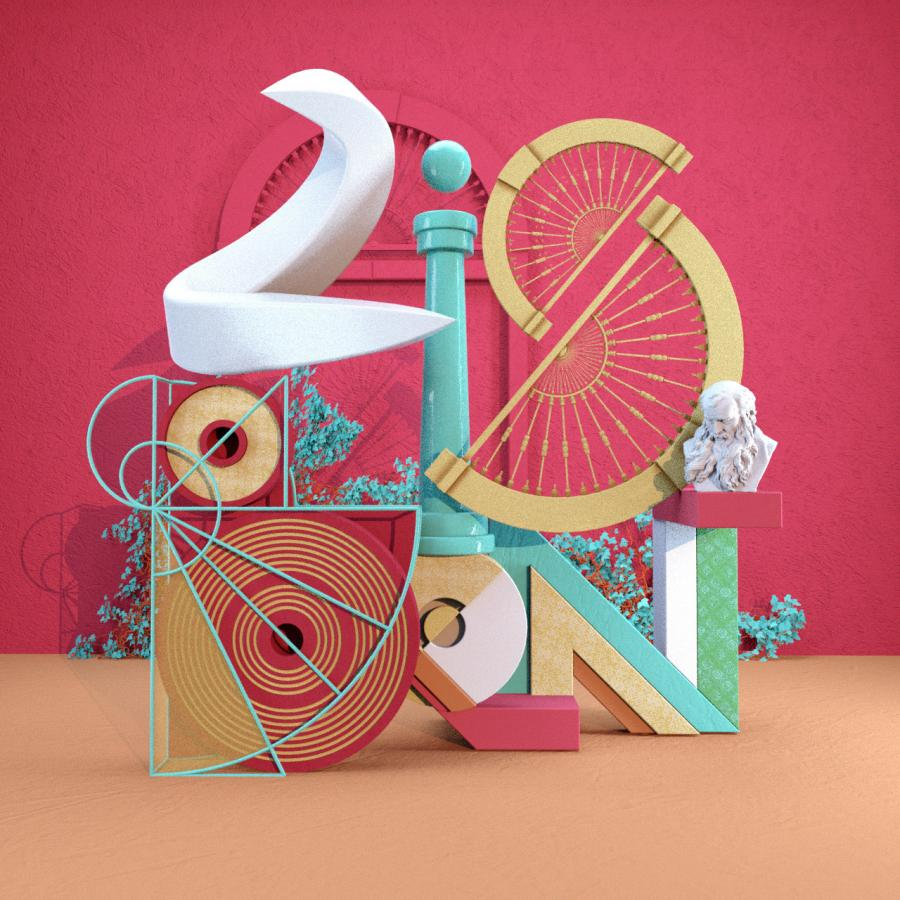 Animated Typographic Travel by DAZZLE SHIP™