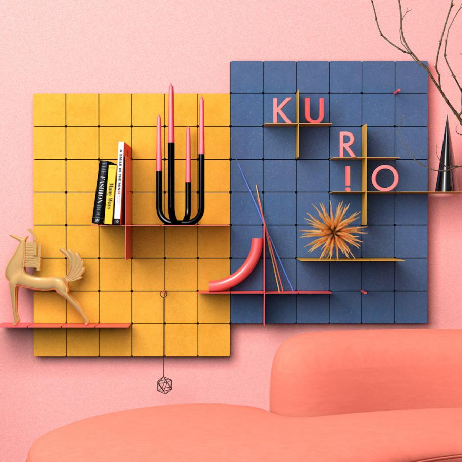 Beautiful Industrial Design for KUR!O Modular Shelving System