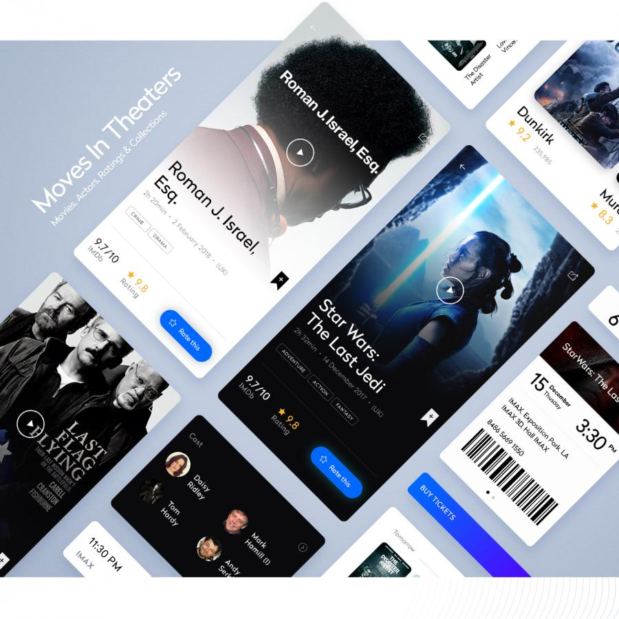 Interaction Design & UI/UX: inTheaters. Mobile App