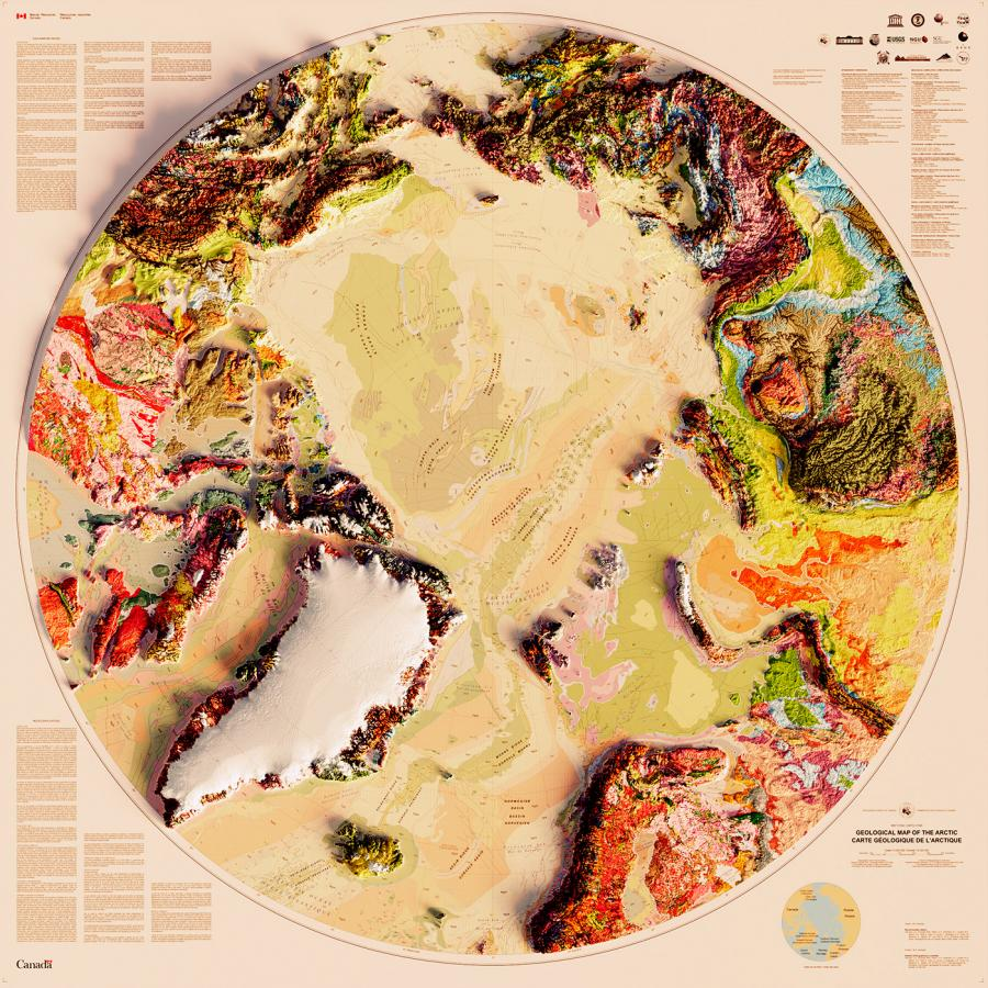 Geological Maps into 3D Art