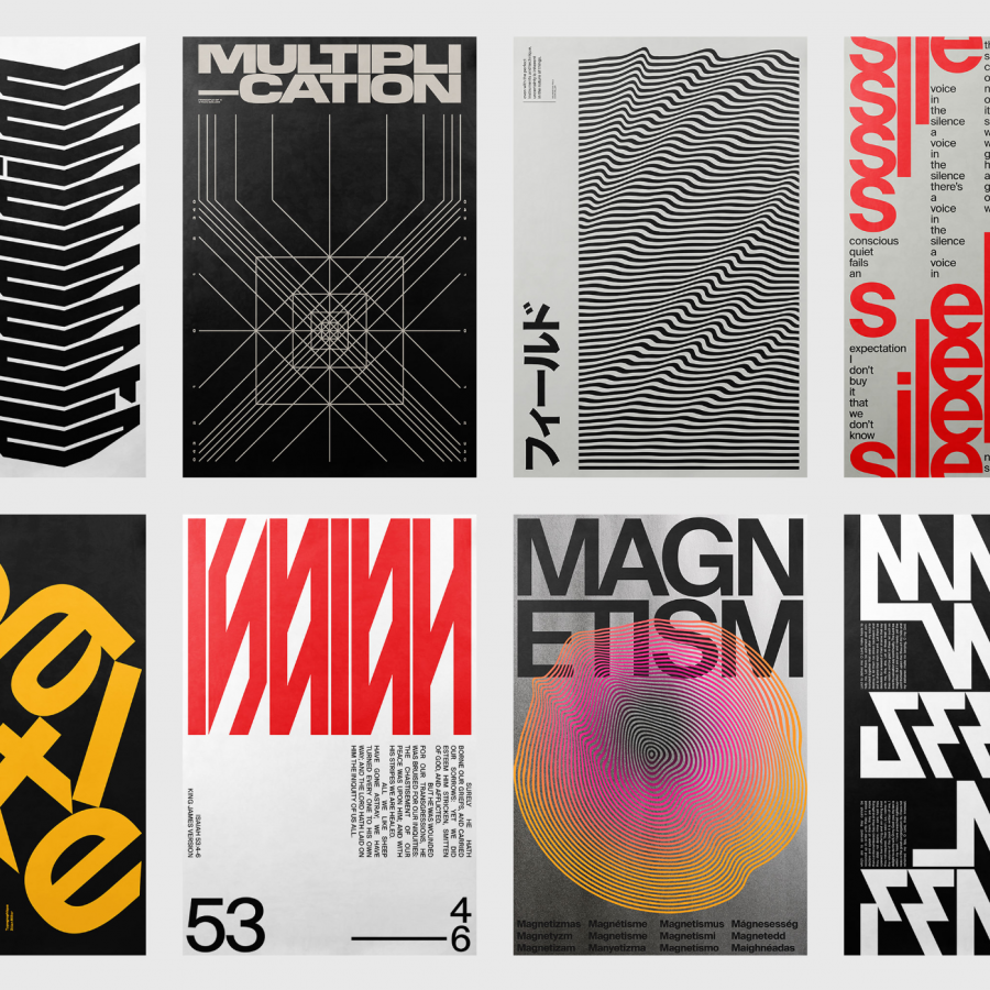 Typographic Poster Studies by Xtian Miller