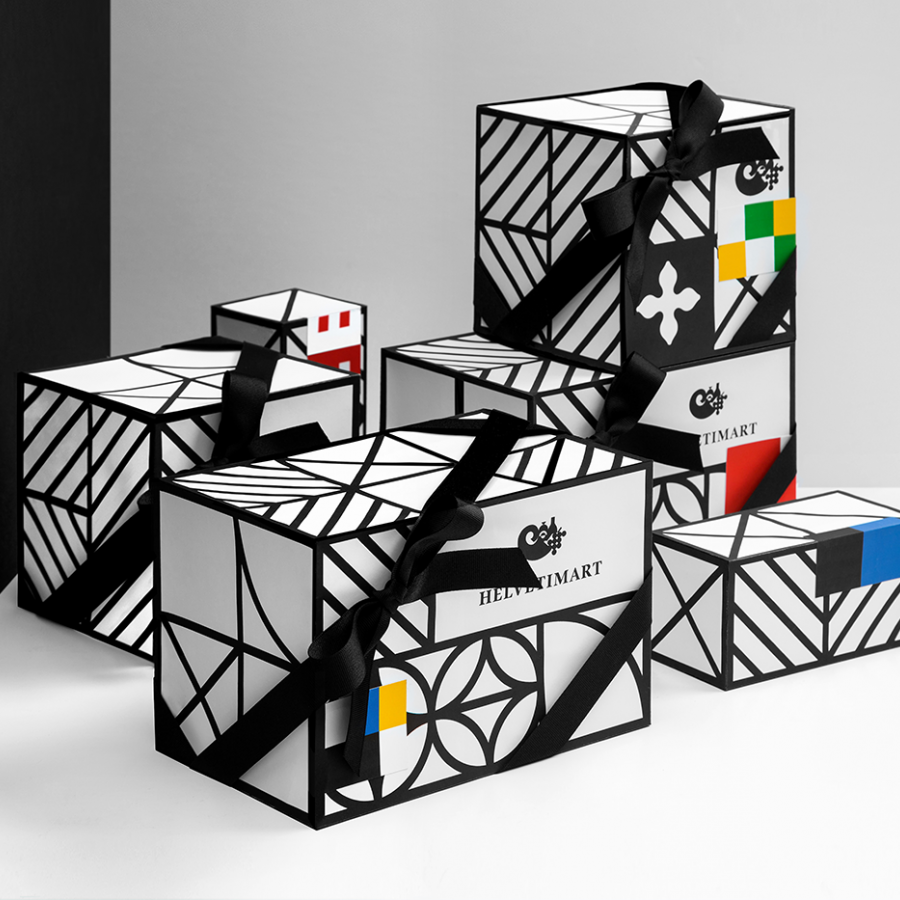Helvetimart, a Swiss packaging design by Anagrama Studio