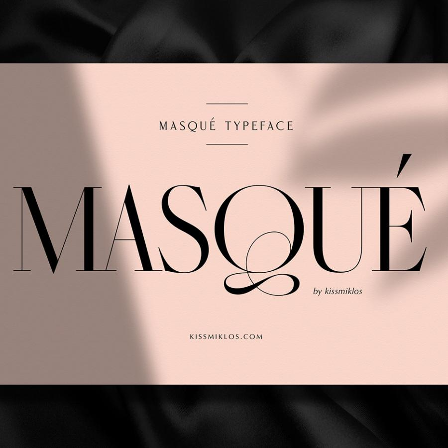 Masqué Display & Headline Typeface