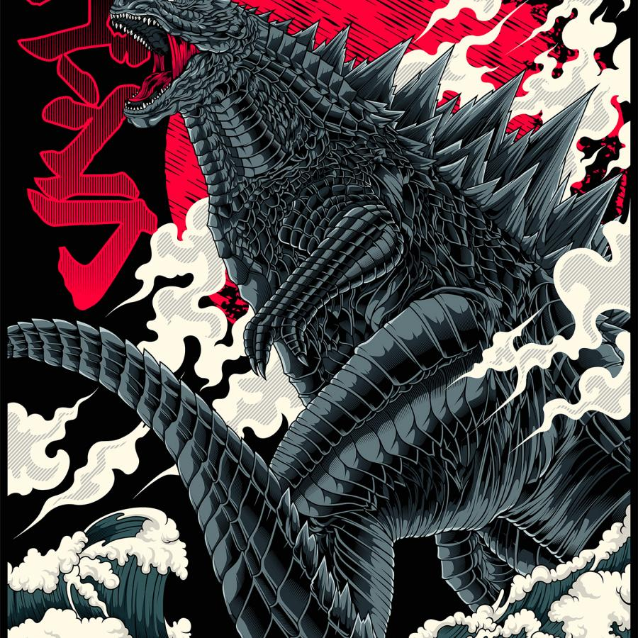 Godzilla King of Monsters Fiery Illustration