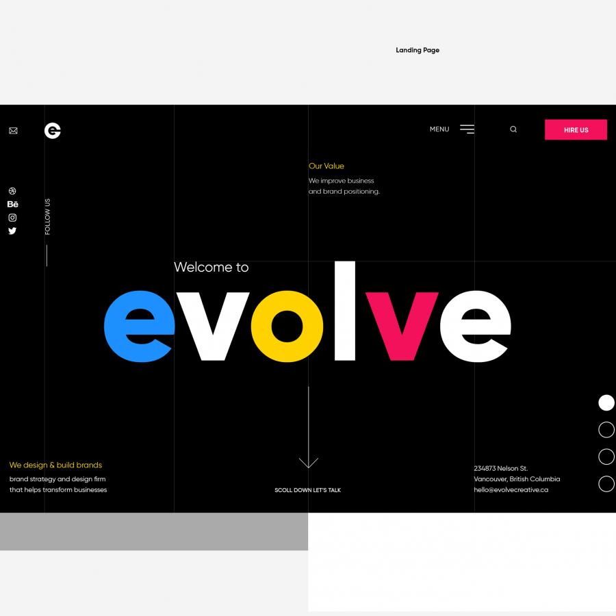 Web Design: Evolve Creative Design
