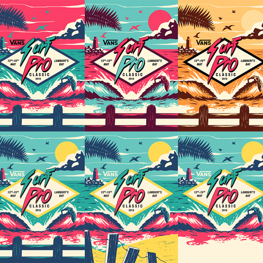 Vans Surf Pro Classic Illustration