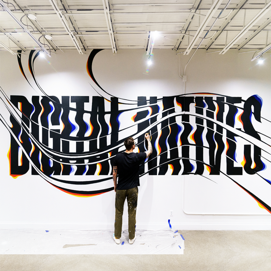 Digital Natives Mural by Ben Johnston