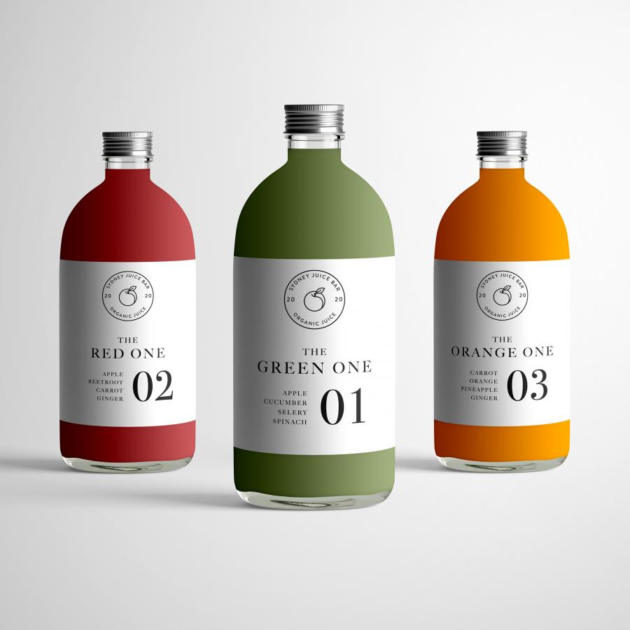 Minimalist & Timeless Branding + Packaging Design of Sydney Juice Bar