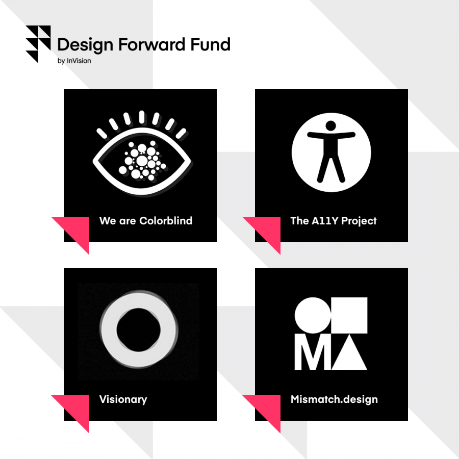 InVision announcing the first four grants issued by the Design Forward Fund