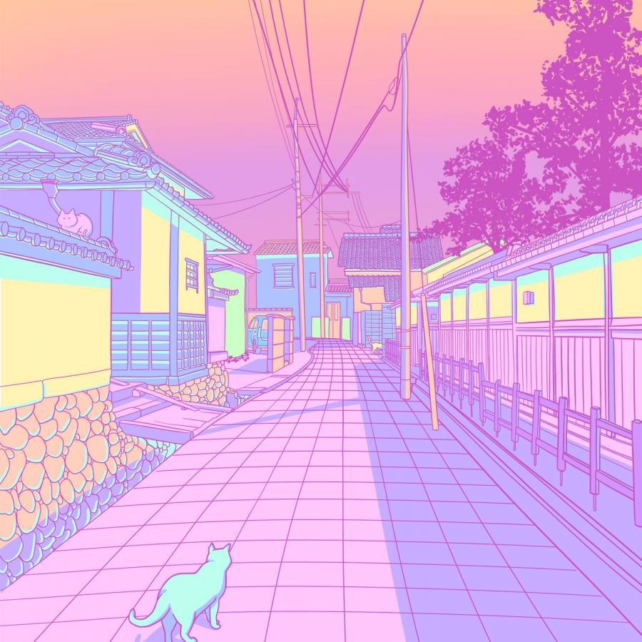 Pastel Japan, Cats and Alleyways Illustrations