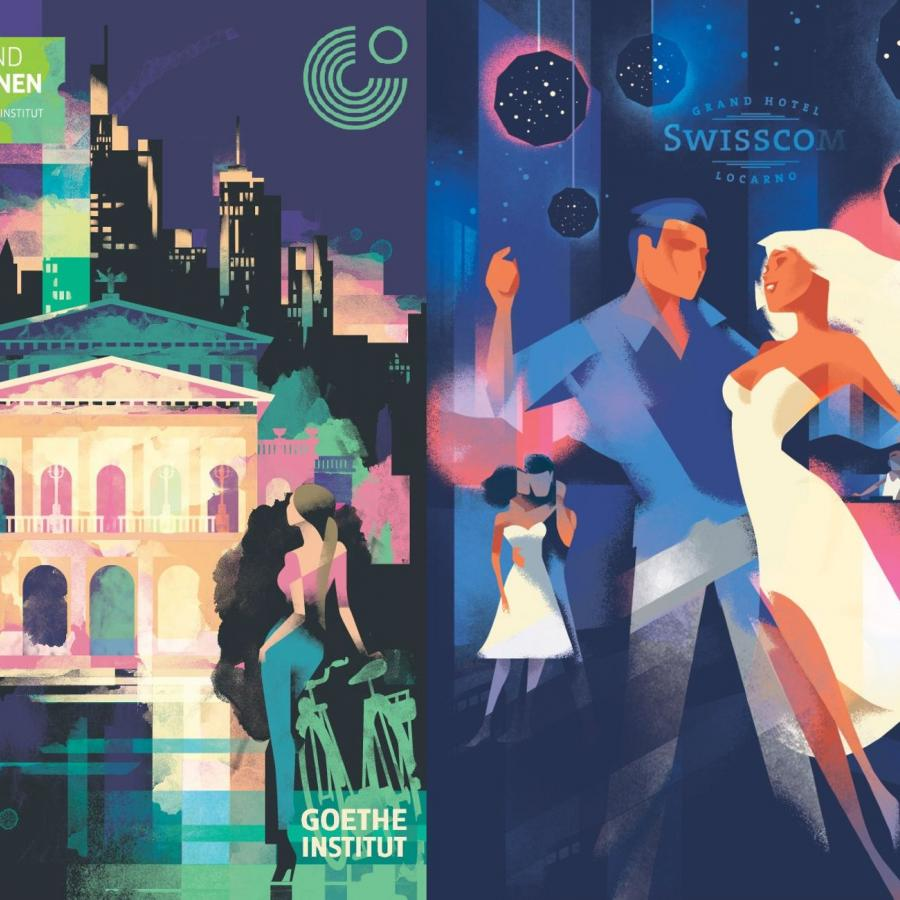 Amazing Art Deco Posters by Mads Berg