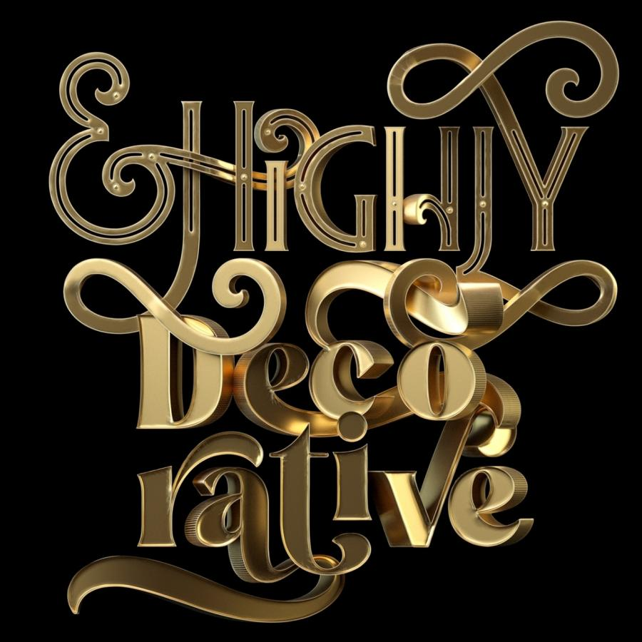 Ornate & Highly Decorative 3D Typography
