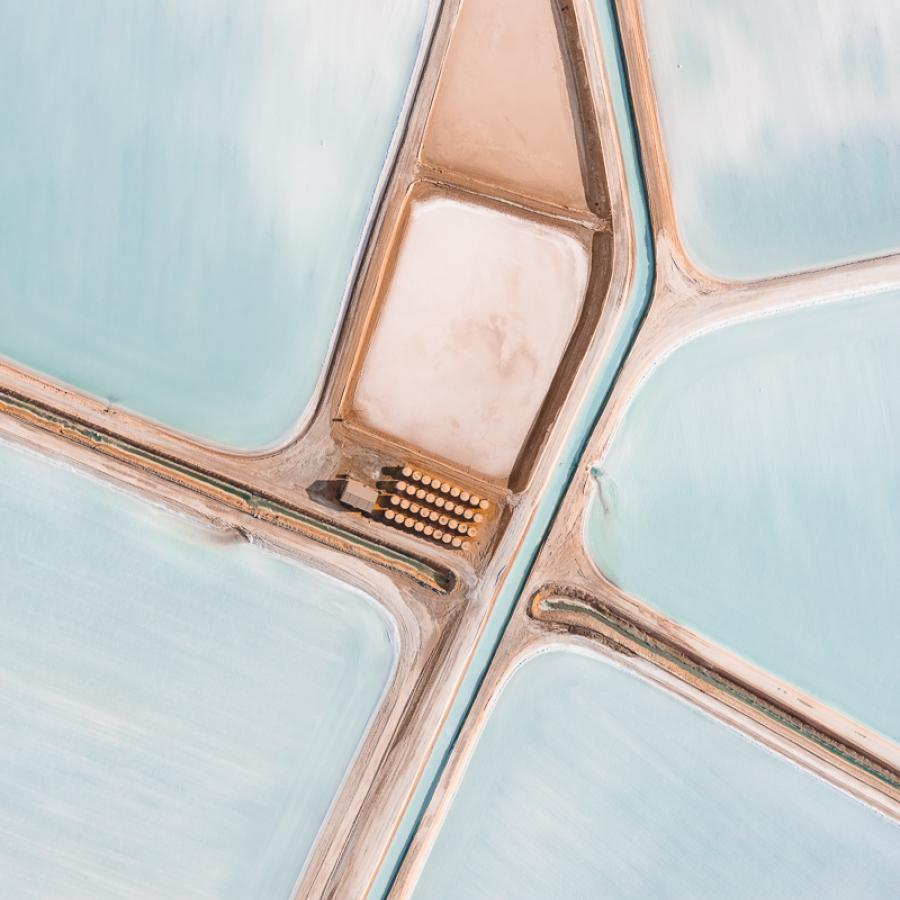 Capturing stunning salt production sites in Western Australia - Aerial Photography