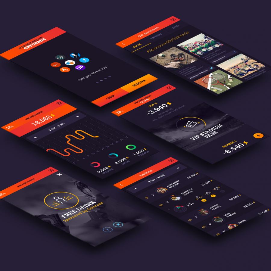UI Design: Sponsored by Gatorade Project