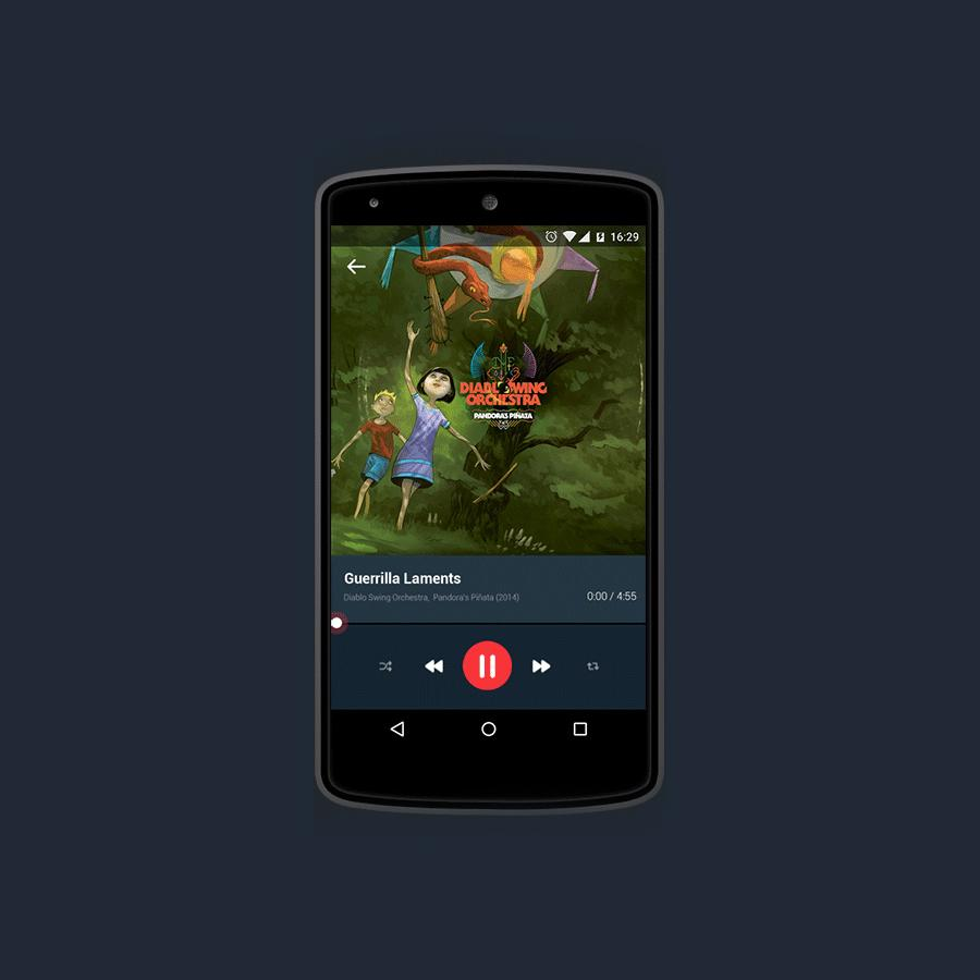 Android L Player Concept