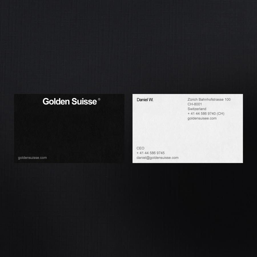Branding & Interface Design for Golden Suisse