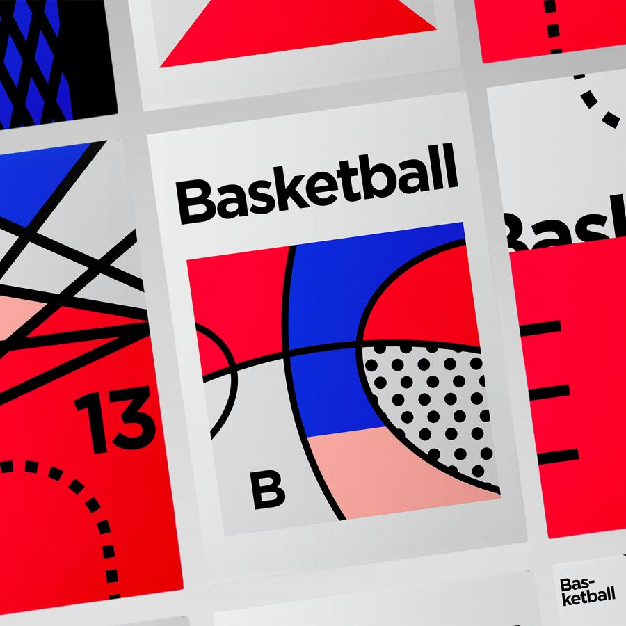 Minimalist Graphic Design - Basketball & Tennis